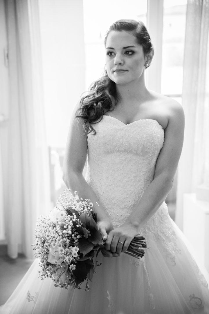 Robe de mariée, bouquet de mariée, préparatifs